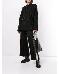 Ujoh Black Blazer im Oversized-Look