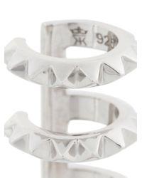 Kasun - Metallic Triple Croc Earcuff - Lyst