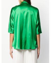 Styland Green Bluse mit Knöpfen