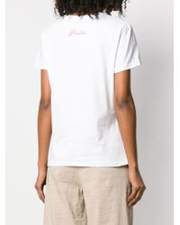 Pinko White Summer Loving Print T-shirt