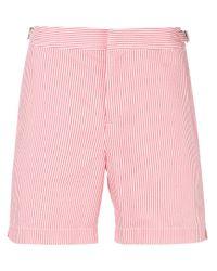 Orlebar Brown White Striped Swim Shorts for men