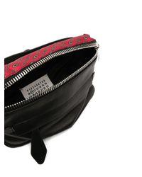 メンズ Maison Margiela スカーフディテール ベルトバッグ Black