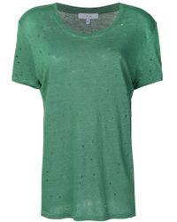 IRO - Green Distressed Hole T-shirt - Lyst