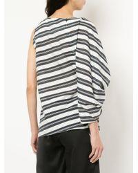 Christopher Esber - Blue One Sleeve Striped Blouse - Lyst