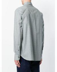 Brioni - Green Patterned Shirt for Men - Lyst