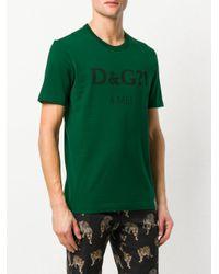Dolce & Gabbana Green 4 Me Printed T-shirt for men