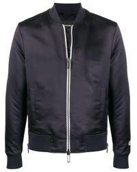 メンズ Emporio Armani ロゴ ボンバージャケット Blue