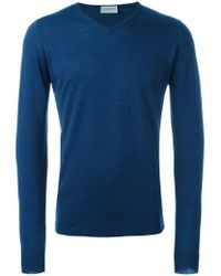 John Smedley Blue 'ashmount' Sweater for men