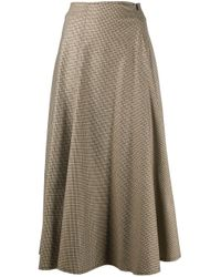 Erika Cavallini Semi Couture チェック スカート Multicolor