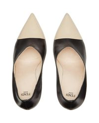 Fendi - Black Curved Heel Pumps - Lyst