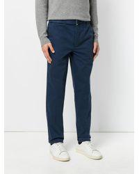 Officine Generale Blue Straight-leg Trousers for men