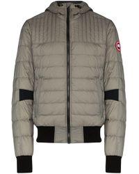 メンズ Canada Goose フーデッド パデッドジャケット Gray