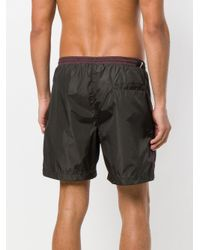 Short de bain à design colour block Low Brand pour homme en coloris Black
