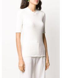 Courreges リブ Tシャツ White