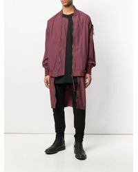 Julius - Red High Low Bomber Jacket for Men - Lyst