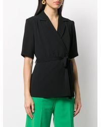 Blouse à design cache-cœur Emilia Wickstead en coloris Black