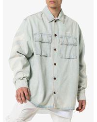 Off-White c/o Virgil Abloh Oversized-Jeanshemd in White für Herren
