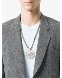 Versace - Metallic Medusa Medallion Necklace for Men - Lyst