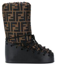 Ботинки С Принтом Ff Fendi, цвет: Black