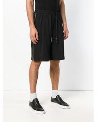 John Richmond Black Elasticated Waist Shorts for men