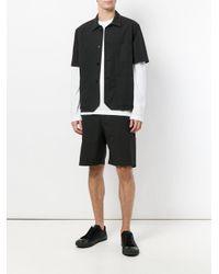 Barena Black Shortsleeved Button Shirt for men