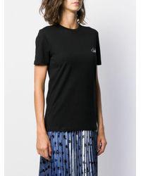 Être Cécile Black Cat Eyes Print T-shirt