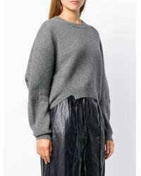 Stella McCartney Gray Cropped Knit Jumper