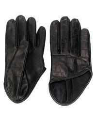 Manokhi クロコダイルパターン グローブ Black