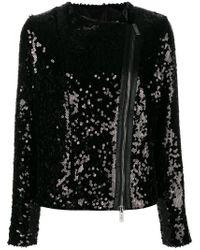 Redemption Black Sequin Biker Jacket