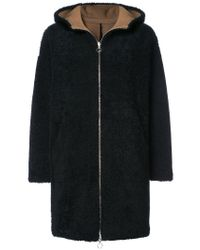 Sprung Freres - Blue Reversible Shearling Coat - Lyst