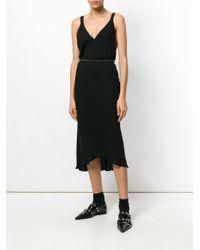Haider Ackermann Black V-neck Sleeveless Dress