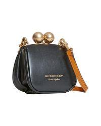 Burberry - Black Mini Metal Frame Clutch Bag - Lyst