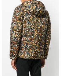 DSquared² Multicolor Padded Micro Floral Jacket for men