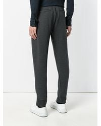 Paolo Pecora - Gray Straight Trousers for Men - Lyst