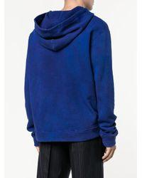 The Elder Statesman - Blue Washed Hoodie for Men - Lyst