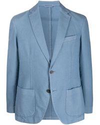 Altea Blue Panama Blazer for men