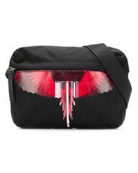 Marcelo Burlon Black Printed Belt Bag for men