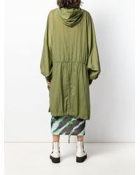 Parka mi-longue à capuche House of Holland en coloris Green