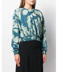 Bleached print sweatshirt di Off-White c/o Virgil Abloh in Blue