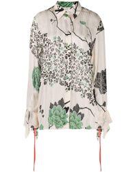 Camisa con estampado floral Victoria, Victoria Beckham de color Multicolor