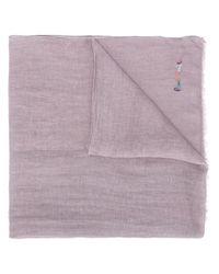 Écharpe en lin à logo brodé Paul Smith pour homme en coloris Multicolor