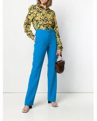 Victoria, Victoria Beckham Blue Straight-leg Trousers