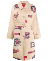 Tommy Hilfiger Multicolor Printed Trench Coat