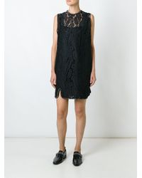 N°21 Black Lace Sleeveless Dress
