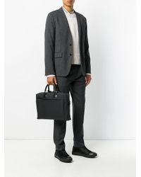 メンズ Troubadour スリム ビジネスバッグ Black