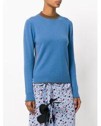 Marni - Blue Contrast Collar Sweater - Lyst