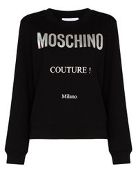 Moschino Couture ロゴ スウェットシャツ Black