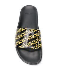 Chanclas con logo Versace de color Black
