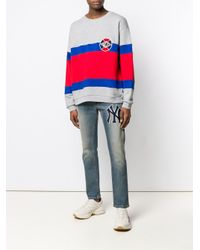 Gucci Gray Logo Badge Sweatshirt for men