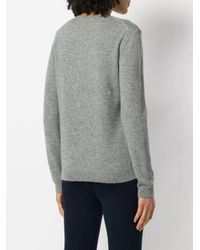Chinti & Parker Gray Mon Coeur Motif Sweater